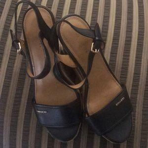 Used COACH wedge sandal